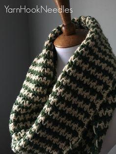 Houndstooth Infinity Scarf with FREE Pattern! – Yarn Hook Needles   Yarn Hook Needles