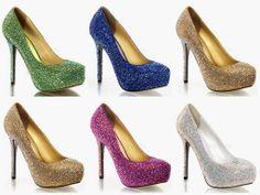Maravillosos zapatos para fiestas de 15 años