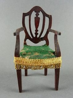 dollhouse miniature STRAIGHT BACK CHAIRS - Google Search