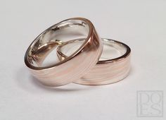 14kt.redgold and silver Mokume-gane