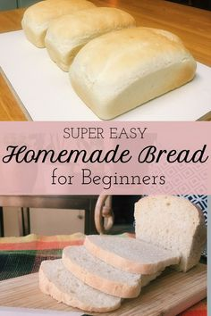 This simple white bread recipe only uses 5 ingredients and is perfect for beginners! This simple white bread recipe only uses 5 ingredients and is perfect for beginners! Easy White Bread Recipe, Best Bread Recipe, Easy Bread Recipes, Loaf Recipes, Cooking Recipes, Homemade White Bread, Super Simple Bread Recipe, White Bread Recipe Pioneer Woman, White Flour Bread Recipe