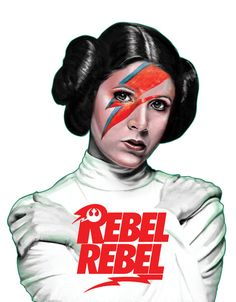 "Artist Leka takes the ""Rebel Rebel"" single cover and gives it a Star Wars twist."