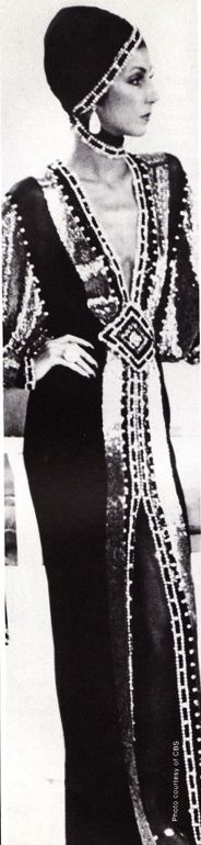 """Cher from the """"Lady Luck"""" series of sketches from The Cher Show - costume Bob Mackie"""