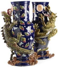 George Jones Majolica vases