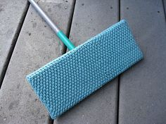 This pattern makes a snug fitting cover for a Swiffer brand floor sweeper size: 4 inches by 10 inches. You begin with a seamless cast on of your choice, knit in the round,