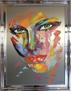 Pop Art Portraits, Portrait Art, Stone Painting, Painting & Drawing, Pop Art Pictures, Tableau Pop Art, Abstract Face Art, Hawaiian Art, Airbrush Art