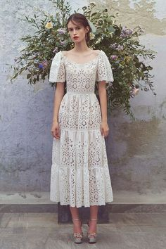 Get inspired and discover Luisa Beccaria trunkshow! Shop the latest Luisa Beccaria collection at Moda Operandi. Luisa Beccaria, Lace Dress, Dress Up, White Dress, Eyelet Dress, Swag Dress, Dress Casual, Lace Skirt, Dress Shoes