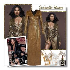 """""""Gabrielle Union"""" by teah507 ❤ liked on Polyvore featuring Forever 21, Giuseppe Zanotti, Diane Von Furstenberg, Dolce&Gabbana and Chanel"""
