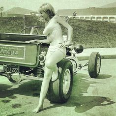 The Best Vintage Cars, Hot Rods, and Kustoms Rat Rod Girls, Car Girls, Hot Rod Trucks, Old Trucks, Pam Hardy, Vintage Cars, Antique Cars, Cool Car Pictures, Old Hot Rods