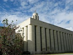 Catholic Church in Salina, Kansas, with architecture influenced by grain elevators