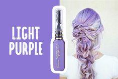Professional Mascara Temporary Hair Dye Washable Hair Color, Temporary Hair Dye, Mermaid Hair, Crazy Hair, Light Purple, Dyed Hair, Mascara, Your Hair, Vibrant Colors