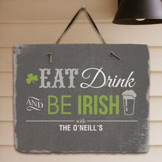Personalized Irish Welcome Slate Plaque - Gifts Happen Here