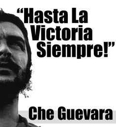 WELCOME COMPAÑERO | WELCOME COMPAÑERA This site is made to show you, what an incredible human-being Che Guevara was. It provides you all the basic information about 'El Chancho'. The focus of this site deals with the huge influence of Che in the fields of Culture, Philosophy, Politics, History,