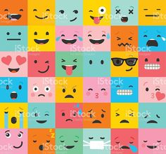 Illustration of Emoticon colorful vector icons set. Emoticon faces , set of icons. Different emotions collection. Emoticon flat pattern design vector art, clipart and stock vectors. Art And Illustration, Icon Emoji, Emoticon Faces, Smiley Faces, Emoji Patterns, Flat Background, Different Emotions, Student Motivation, Emotional Intelligence