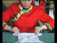 How To Fold Exotic Napkins DVD - The Butterfly - YouTube