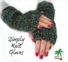 FREE Knit Pattern - Simply Knit Gloves free knit pattern for easy fingerless gloves. Simply Knitting, Easy Knitting, Knitting For Beginners, Knitting Yarn, Fingerless Gloves Knitted, Crochet Gloves, Knit Crochet, Knit Hats, Crochet Granny