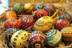 Geschilderde eieren uit Lausitz