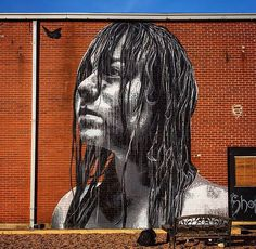 NILS WESTERGARD .. 'Hannah' .. for RVA Street Art Festival .. [Richmond, USA 2016] (close up)
