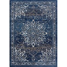 Well Woven New Age Sultana Blue 7 ft. 10 in. x 9 ft. 10 in. Traditional Medallion Vintage Distressed Area - The Home Depot - Well Woven New Age Sultana Blue 8 ft. x 10 ft. Traditional Medallion Vintage Distressed Area Rug-P- - New Age, Home Depot, Polypropylene Rugs, Oriental Pattern, Oriental Rug, Weathered Wood, Power Loom, Blue Area Rugs, Blue Rugs