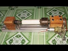 DIY Mini Lathe Tailstock Wood Motor Drill CNC Spindle Machine Free Energ...