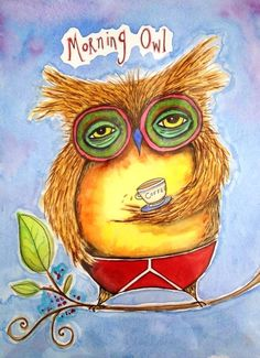 Owl need coffee! I Love Coffee, Coffee Art, Drink Coffee, Coffee Time, Morning Coffee, Illustrations, Illustration Art, Happy Week End, Happy Wednesday