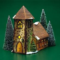 """Department 56: Products - """"Dickens' Village Church"""" - View Lighted Buildings"""
