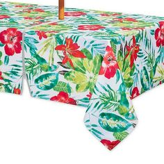 Fabric Indoor Outdoor Square Tablecloth with. the Lanai Indoor/Outdoor Tablecloth. splashes of color on polyester, this tablecloth instantly. Outdoor Tablecloth, Summer Home Decor, Color Splash, Summer House, Indoor, Tropical Design, Oblong Tablecloth, Fabric, Bed Bath And Beyond