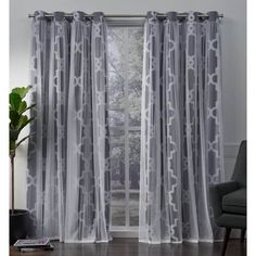 Shop ATI Home Alegra Thermal Woven Blackout Grommet Top Curtain Panel Pair – Overstock – 18590736 Contemporary Curtains, Modern Curtains, Contemporary Decor, Sheer Curtain Panels, Blackout Curtains, Home Curtains, Window Curtains, Home Depot, Chairs