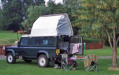Dormobile Land Rover Defender 110 roof up-2