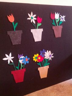 Planting Felt Flowers: A Counting Game. Would also be a great color match game.