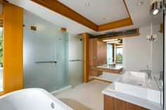 Modern Bathroom | Westcoast contemporary home by Best Builders Ltd. | Ema Peter Photography