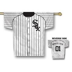 Chicago White Sox MLB 2 Sided Jersey Banner 34 x 30
