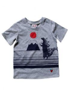 MiszkoMaszko - T-Shirt Vulkaan ( Grijs )