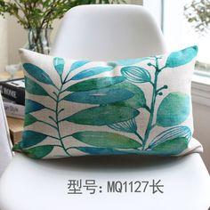Folhas tropicais país verde sofá throw pillow caso decor capa de almofada de algodão 2015 decorativas cojines em Capas de almofadas de Home & Garden no AliExpress.com | Alibaba Group