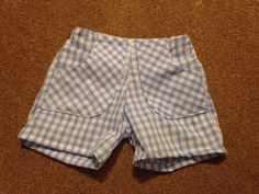 Short shorts for barney again from the shorts pattern by made by Dana ... This gingham was not very nice to sew with...
