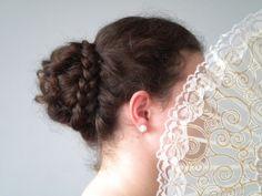 Tutorial: Regency braid-wrapped bun hairstyle updo - Locks of Elegance