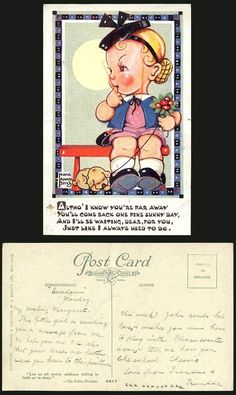 Nora Annie Birch OLD Postcard I'LL BE Waiting YOU'D Come Back ONE Fine Sunny DAY | eBay