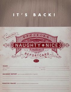 Harry Canary | Naughty or Nice Report Card - Free Printable