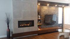 Camino Design, Home Theater, Foyer Propane, Fireplace Design, Coastal Cottage, Modern Design, Sweet Home, New Homes, Living Room