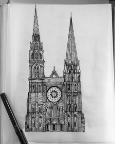 Creepy Cathedral ⚔ #sabrinabialekart #blackwork #blackworkers #blackworktattoo #blackworkerssubmission #illustration #medieval #linework #lineworktattoo #etching #occult #darkartists #darkart #illustrativetattoo #cathedraltattoo