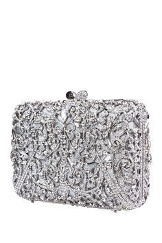 Silver Swirl Clutch by the Nude Face on @nordstrom_rack Sponsored by Nordstrom Rack.