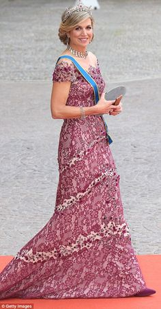 Stiff competition: Second place was taken by the Netherlands' Queen Maxima while Crown Pri...