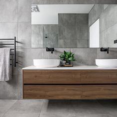 Modern Farmhouse, Rustic Modern, Classic, light and airy bathroom design a few ideas. Bathroom makeover a few ideas and bathroom renovation ideas. Grey Bathroom Tiles, Bathroom Renos, Bathroom Renovations, Small Bathroom, Master Bathroom, Grey Tiles, Grey Bathroom Interior, Bathroom Ideas, Bathroom Colours