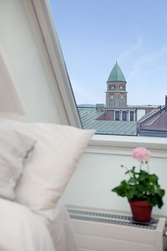 Gorgeous Interior in a Swedish Attic With Clear View Over The City