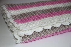Handmade Baby Blanket Crochet Blanket Baby Girl by HappyWoollies, €59.00