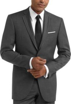 EZ Tuxedo Gitman Button Down Graph Check Navy Dress Shirt