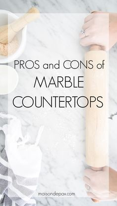 Great info if you're considering marble countertops! Should I use marble in the kitchen? It's one of the most common questions for today's kitchen design! Read all about the pros and cons of marble countertops as well as what it is like living with honed marble countertops in a household with kids. #carraramarble #marblebacksplash #marblecountertops #marblecounters #marblekitchen