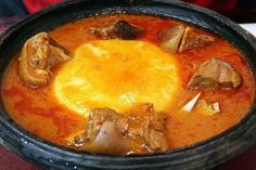 Recipes from around the world: Fufu and Lightsoup - Pocket Change Gourmet - Recipes from around the world: Fufu and Lightsoup Solid west african food: banga soup with goat meat and pounded yam. Soup Recipes, Cooking Recipes, Healthy Recipes, Gourmet Recipes, Delicious Recipes, Dinner Recipes, Stuffed Pepper Soup, Stuffed Peppers, Meals