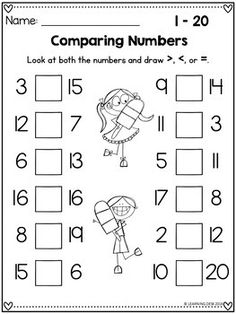 paring Numbers Worksheets Distance Learning Packet Kindergarten 21 Comparing Numbers Worksheets Comparing Numbers Worksheets - There are many reasoned explanations wh. First Grade Math Worksheets, Number Worksheets, Preschool Worksheets, Comparing Numbers Worksheet, Numbers Kindergarten, Kindergarten Learning, Learning Numbers, Math Patterns, Math For Kids