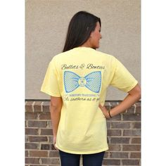 Yellow Bullets and Bow Tie Tee   Walker Boutique